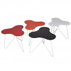 SET DE 3 TABLES D'APPOINTS COLOREES HAPPY