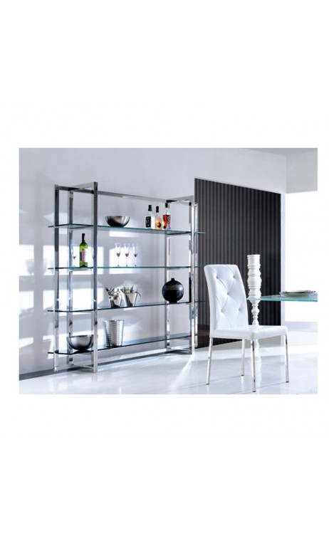 achetez votre tag re design chrome et verre melbourne pas cher sur loft. Black Bedroom Furniture Sets. Home Design Ideas