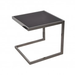 TABLE D'APPOINT DESIGN VERRE NOIR TEINT LIVELY