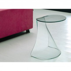TABLE D'APPOINT DESIGN VERRE TRANSPARENT