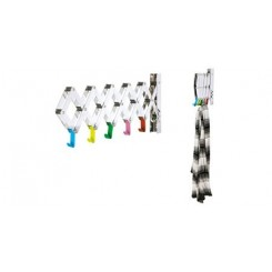 PORTE MANTEAU EXTENSIBLE CHROME ET MULTICOLORE PRESENT TIME