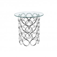 TABLE D'APPOINT MODERNE VERRE ET CHROME DINANT