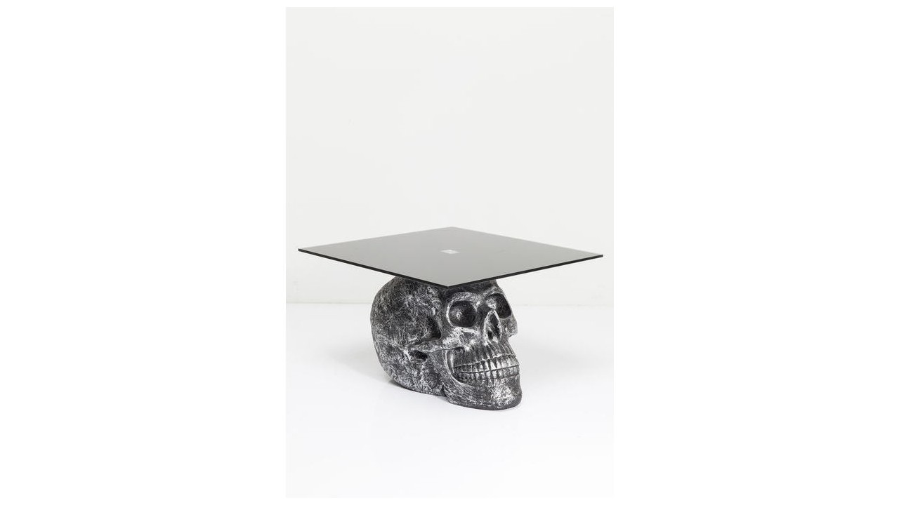 achetez votre table basse t te de mort 60 cm rockstar by geiss pas cher chez loft attitude. Black Bedroom Furniture Sets. Home Design Ideas