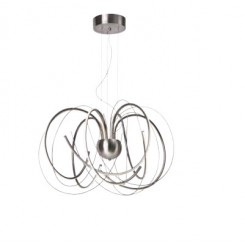 SUSPENSION DESIGN LED ET CHROME APPLES SOMPEX