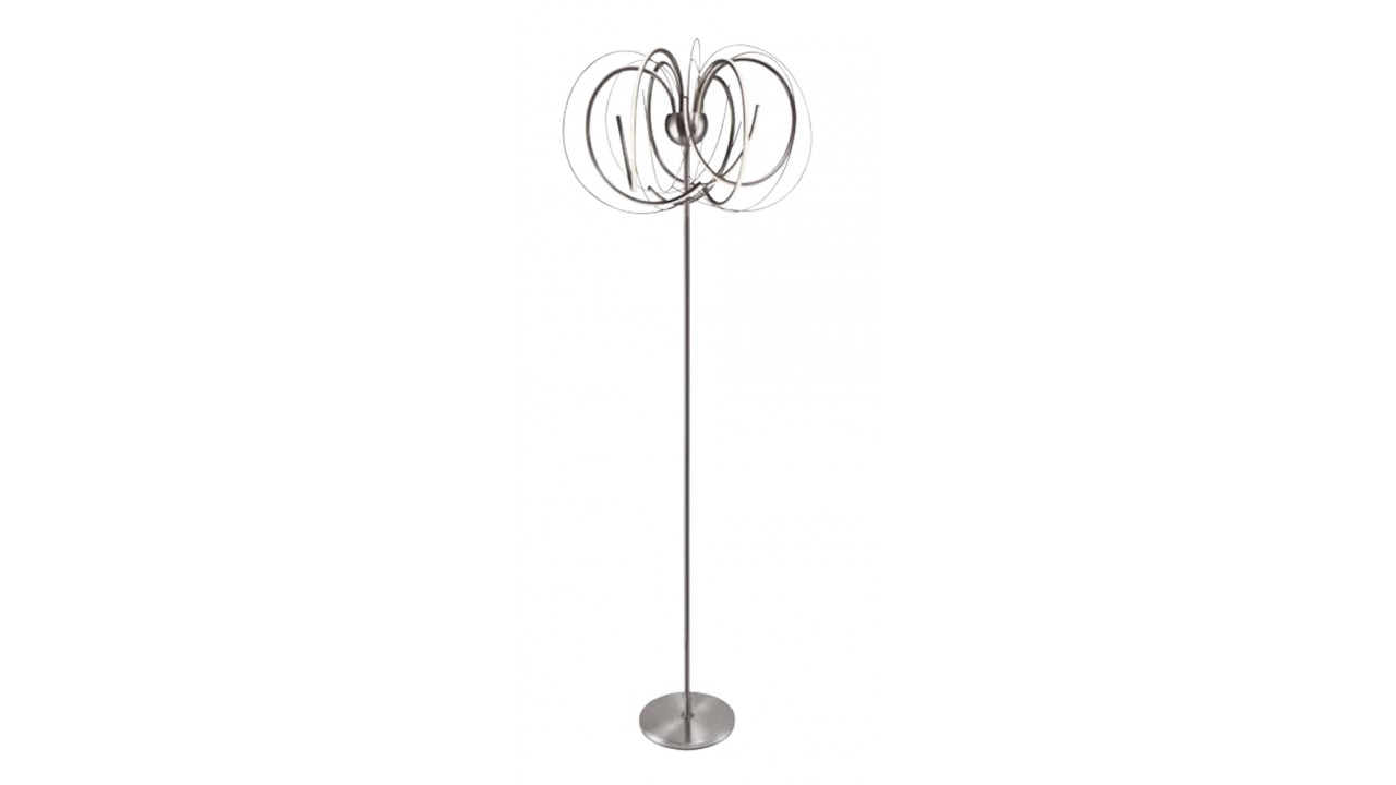 achetez votre lampadaire design led et m tal satin apples. Black Bedroom Furniture Sets. Home Design Ideas