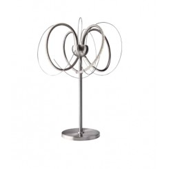 LAMPE DE TABLE DESIGN LED ET METAL SATINE APPLES SOMPEX
