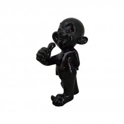 STATUE NOIRE DESIGN ENFANT BOUDHISTE KIDS DREAM LOFT