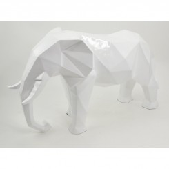 ELEPHANT DECORATIF ORIGAMI BLANC SAFARI DREAM LOFT