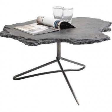 TABLE BASSE DESIGN PLATEAU ROCHE CALCAIRE VULCANO KARE DESIGN