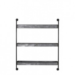 ETAGERE MURALE INDUSTRIELLE METAL GRIS ANEGADA LIGHT AND LIVING