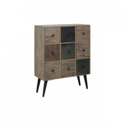 BUFFET 8 TIROIRS EN BOIS PATINE MULTICOLORE BARICO LIGHT AND LIVING
