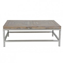 TABLE BASSE PLATEAU BOIS ET PIEDS CHROMES STAND LIGHT AND LIVING