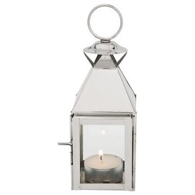 Photophore lanterne chromé