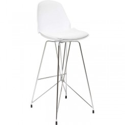 CHAISE DE BAR SIMILI CUIR BLANC WIRE KARE DESIGN