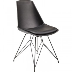 CHAISE DESIGN SIMILI CUIR NOIR WIRE KARE DESIGN
