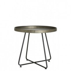 TABLE D'APPOINT STYLE INDUSTRIELLE PLATEAU BRONZE HYLKE LIGHT AND LIVING