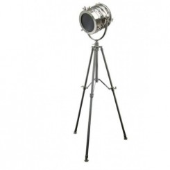 LAMPADAIRE DESIGN TREPIED CHROME LINCOLN LIGHT AND LIVING