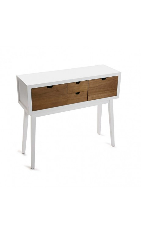 achetez votre console en bois blanc 4 tiroirs najac pas. Black Bedroom Furniture Sets. Home Design Ideas