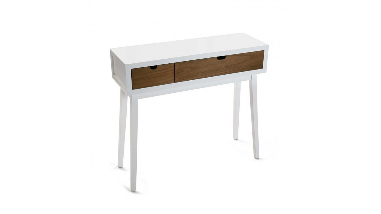 achetez votre console en bois blanc 2 tiroirs najac pas. Black Bedroom Furniture Sets. Home Design Ideas