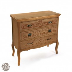 COMMODE BOIS INDUSTRIELLE 3 TIROIRS RIANO VERSO