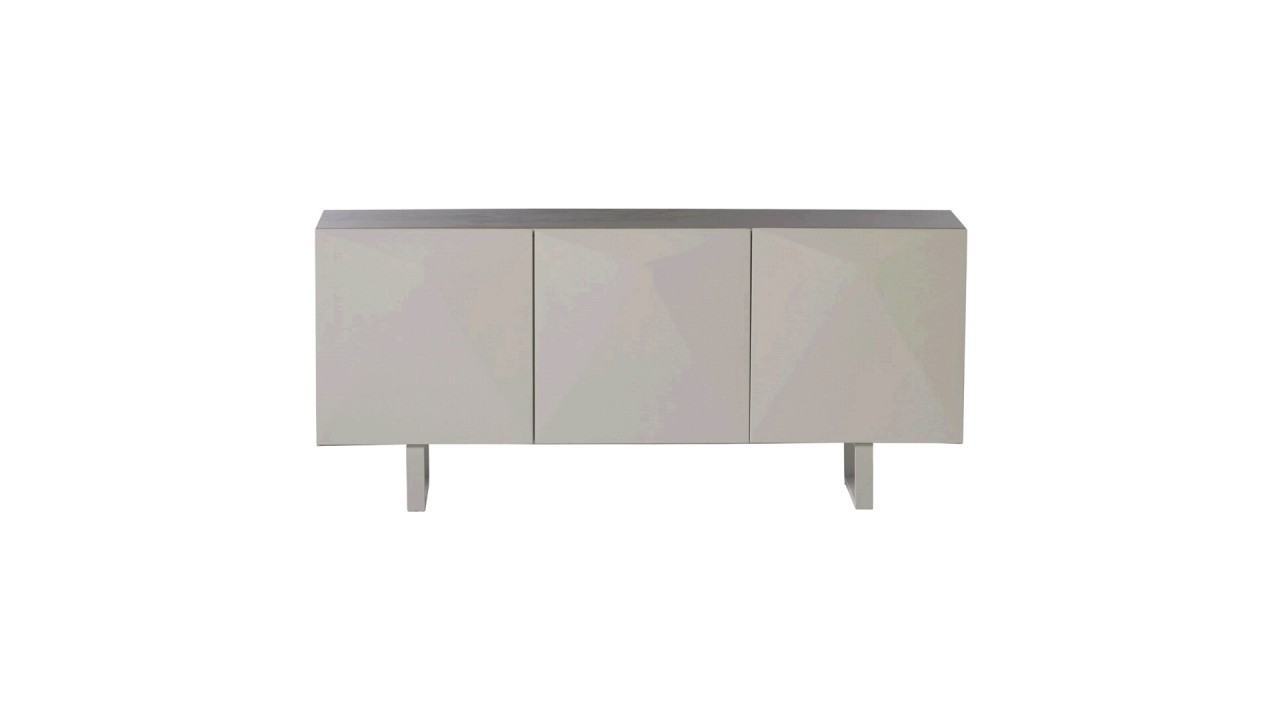 achetez votre buffet bas 3 portes laqu blanc tomorrow pas cher sur loft. Black Bedroom Furniture Sets. Home Design Ideas