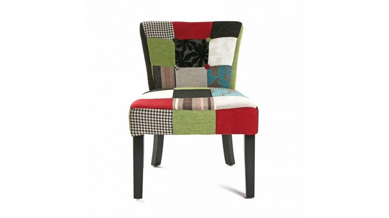 fauteuil patchwork en tissu multicolore patchw ebay. Black Bedroom Furniture Sets. Home Design Ideas