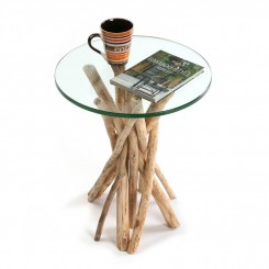 TABLE D'APPOINT PLATEAU ROND 40 CM TREE VERSA