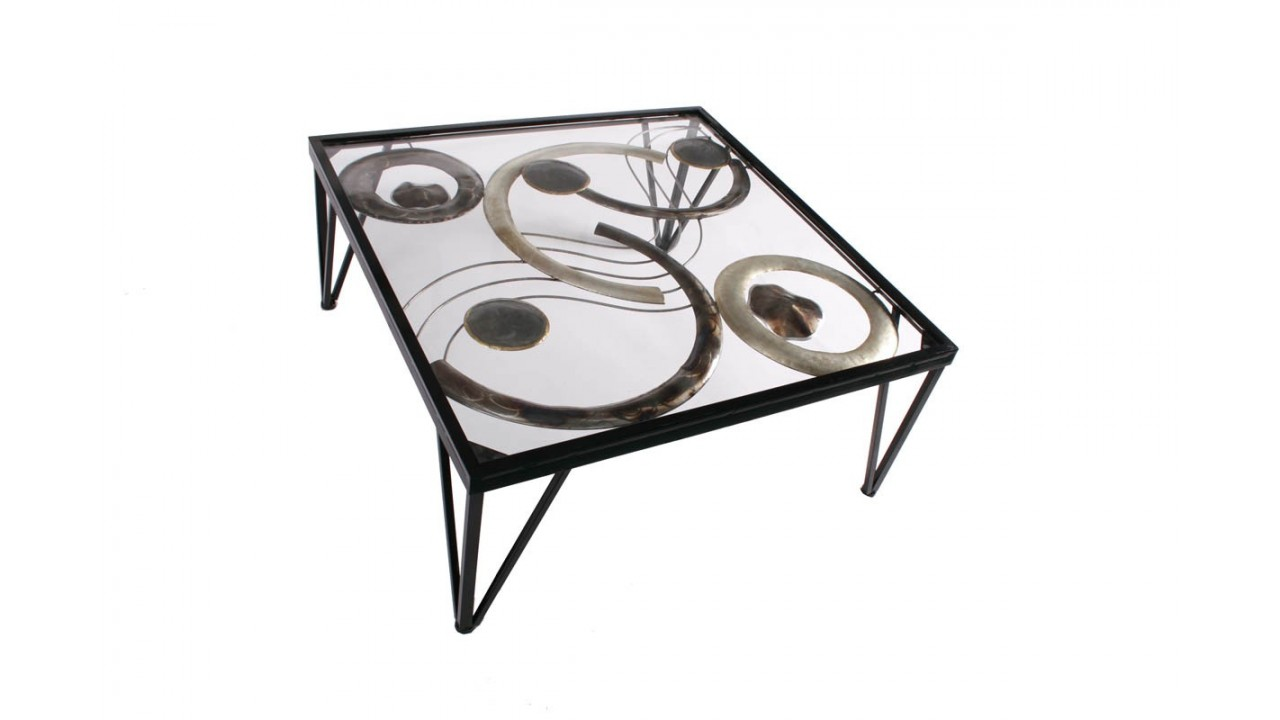 achetez table basse design cercle m tal circles pas cher. Black Bedroom Furniture Sets. Home Design Ideas