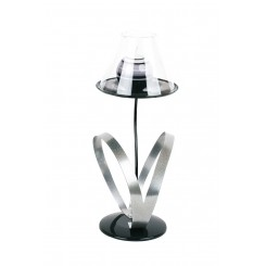 LAMPE A POSER BOUGEOIR ARGENT SATELLITE