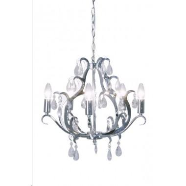 Lustre baroque Kristal chrome