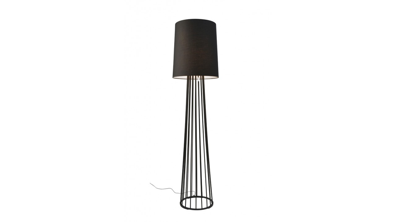 lampadaire abat jour noir 155 cm mailand pas cher. Black Bedroom Furniture Sets. Home Design Ideas