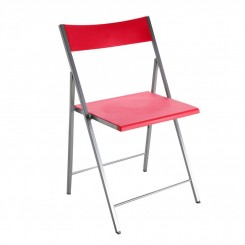 Chaise pliante ROUGE POLY