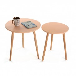 Table d'appoint 50 cm cosy SAUMON bois AUXI