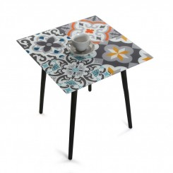 TABLE D'APPOINT PLATEAU MOSAIQUE CRISTAL VERSA