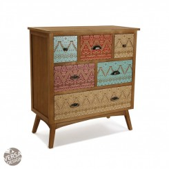 COMMODE 6 TIROIRS MULTICOLORES SHIKAR VERSA