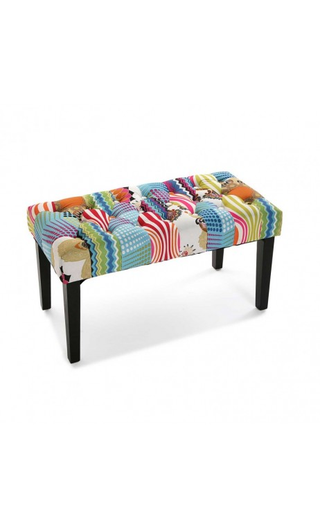 achetez votre banc tissu patchworks multicolores juneau. Black Bedroom Furniture Sets. Home Design Ideas