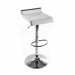 TABOURET DE BAR BLANC ET CHROME NORWICH VERSA
