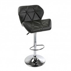 TABOURET DE BAR ASPECT CUIR NOIR PRESTON VERSA