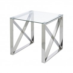 TABLE D'APPOINT VERRE ET METAL CHROME MILWAUKEE