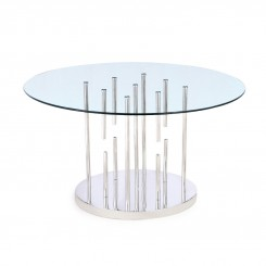 TABLE A MANGER PLATEAU VERRE ET CHROME CHICAGO