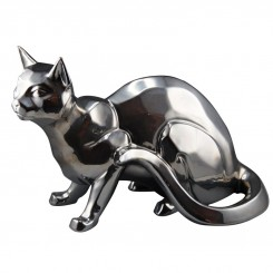 STATUETTE CHAT COULEUR ARGENTEE 41 CM SHADOW