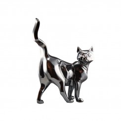 CHAT DECORATIF ARGENT BRILLANT SHADOW