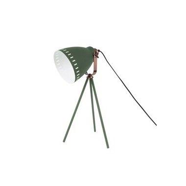 Lampe de table abat jour vert et cuivre MINGLE