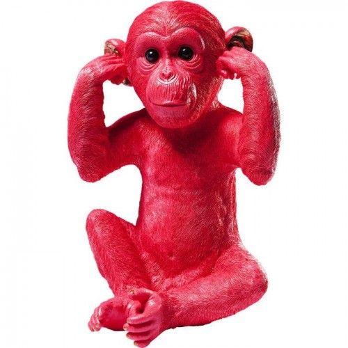 Tirelire chimpanzé ROUGE MIZARU