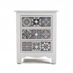 TABLE DE CHEVET 3 TIROIRS CARRELAGE DECORATIF PIREO VERSA