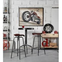 TABLE DE BAR DECOR PNEU NOIR RACING SOCADIS