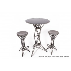 TABLE DE BAR EN METAL CHROME ART DE FER SOCADIS