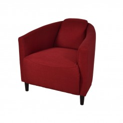 FAUTEUIL TISSU ROUGE STYLE CLUB BLERIO