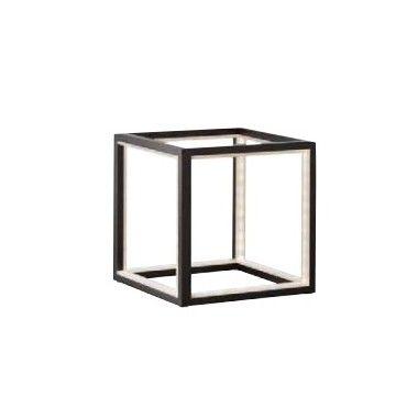 LAMPE A POSER NOIRE LEDS ALUMINIUM 20 CM DELUX SOMPEX
