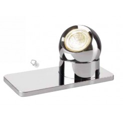 LAMPE SPOT CHROME TABLETTE LED TARLY SOMPEX